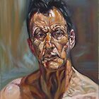 self-portrait after Lucian freud  by Hidemi Tada