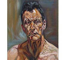 self-portrait after Lucian freud  Photographic Print