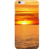 Colorful sunset over water iPhone Case/Skin