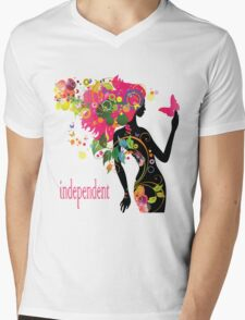 independent women Mens V-Neck T-Shirt
