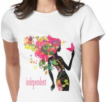 independent women Womens Fitted T-Shirt