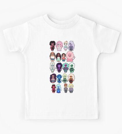 Steven Universe Cast in Chibi Style Kids Tee