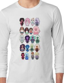 Steven Universe Cast in Chibi Style Long Sleeve T-Shirt