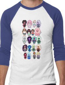 Steven Universe Cast in Chibi Style Men's Baseball ¾ T-Shirt