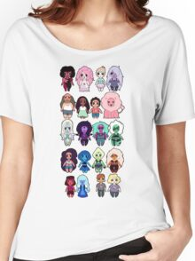 Steven Universe Cast in Chibi Style Women's Relaxed Fit T-Shirt