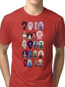 Steven Universe Cast in Chibi Style Tri-blend T-Shirt