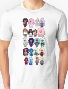Steven Universe Cast in Chibi Style T-Shirt