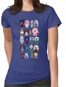 Steven Universe Cast in Chibi Style Womens Fitted T-Shirt