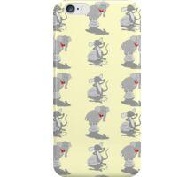 Elephant pattern funny mice iPhone Case/Skin