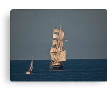 Sails in the Sunset. Canvas Print