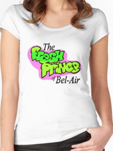 Fresh Prince logo Women's Fitted Scoop T-Shirt