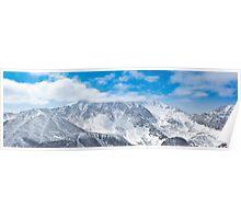 Munku-Sardyk peak in clouds Poster