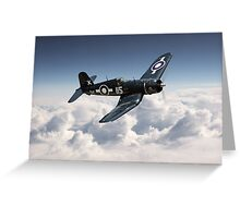 Corsair F4U - Royal Navy Greeting Card