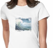 Big Wave Womens Fitted T-Shirt