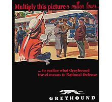 Greyhound Bus Lines Photographic Print