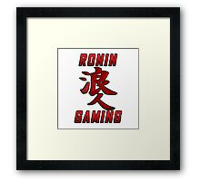 Ronin Gaming Logo (tall) Framed Print
