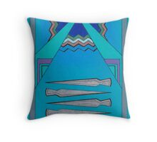 Four of Swords Throw Pillow