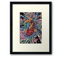 Japanese koi fish  Framed Print