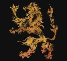 Lion Heraldry Griffin - Heraldic Grungy by Denis Marsili - DDTK
