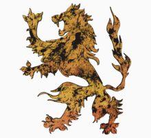Lion Heraldry Griffin - Heraldic Grungy Baby Tee