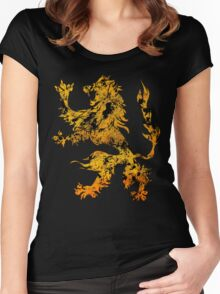 Lion Heraldry Griffin - Heraldic Grungy Women's Fitted Scoop T-Shirt