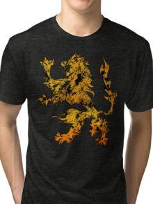 Lion Heraldry Griffin - Heraldic Grungy Tri-blend T-Shirt