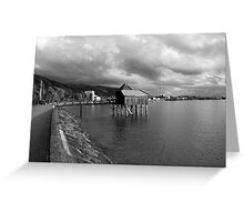 cloudy sky over lake Greeting Card