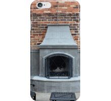 Outdoor Patio With Fireplace iPhone Case/Skin