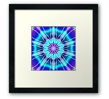 Blue and Purple Tie Dye Framed Print