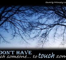 To touch someone... by LilithLilith