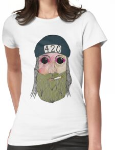 420 Dude Womens Fitted T-Shirt