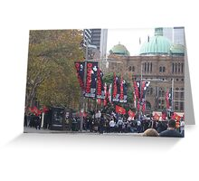 Protest Parade - Sydney Town Hall area Greeting Card