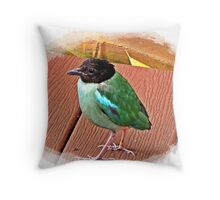 """ Exotic Birds"" Throw Pillow"