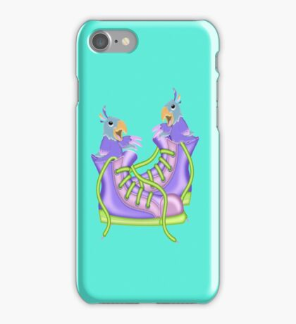 Cute Singing Parrots iPhone Case/Skin