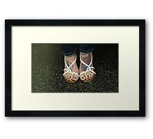 Colorful Feet Framed Print