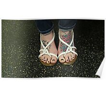 Colorful Feet Poster