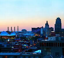 Downtown Kansas City at Sunset by Catherine Sherman