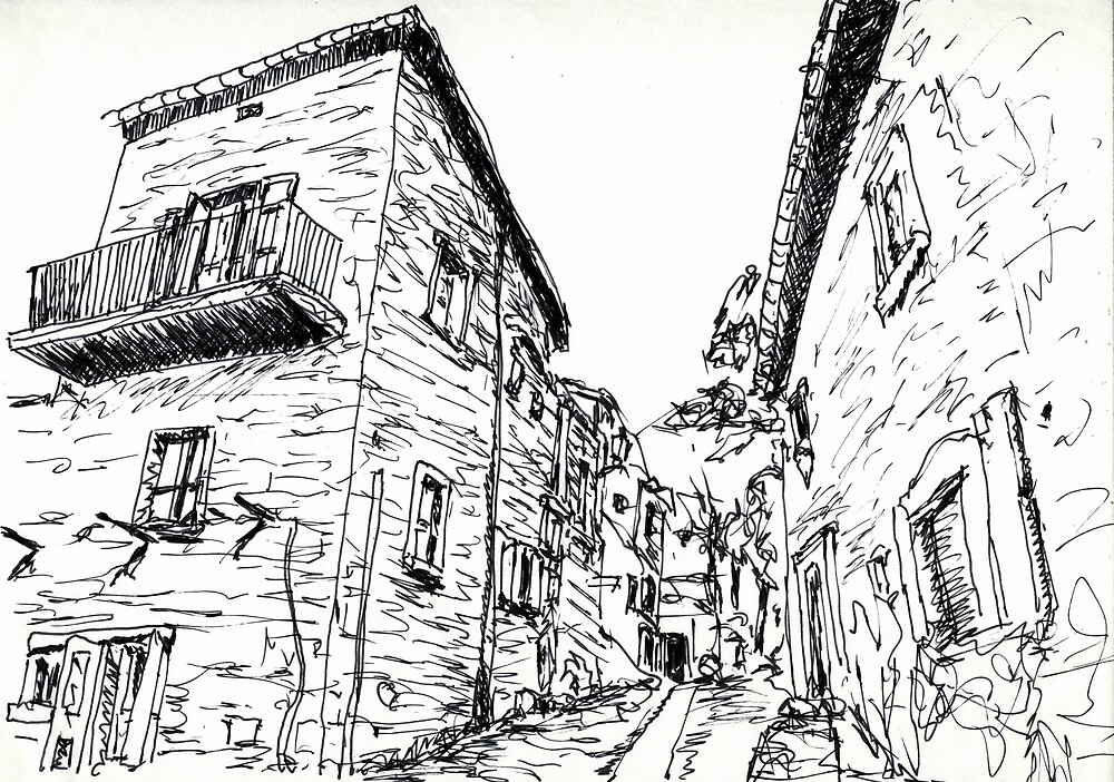 Cortona Side Street Via S.Nicolo'  by Randy Sprout