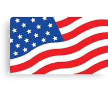 Made in USA flag american hero patriot factory business work Canvas Print