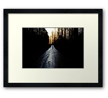 The Righteous Path Framed Print