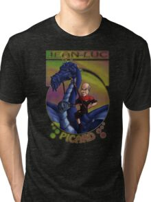 Jean-Luc Picard and the Dragon Tri-blend T-Shirt
