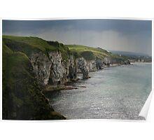 cliffs of chalk Poster