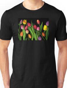 Colorful Tulips Unisex T-Shirt