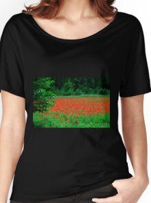 Poppy Field Women's Relaxed Fit T-Shirt