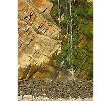 Dripping waterfall and rockface Photographic Print