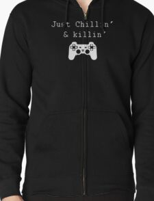 Chillin' & Killin' (Pixel white) T-Shirt