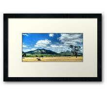 Sunburnt Country - The Grampians - The HDR Experience Framed Print