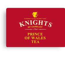 KNIGHTS Of Camelot Tea (yellow) Canvas Print