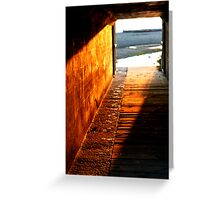 Footsteps To Serenity Greeting Card