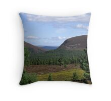 Cairngorms National Park Looking North Throw Pillow